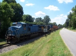 LMSX 7929 CSX 5489 intermodal. 360 axles, 7524 feet long.