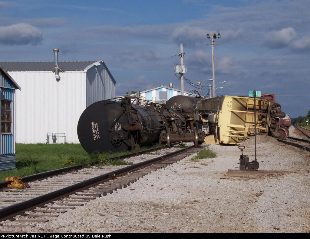 MNA derailment at Pearl Yard, Carthage, MO