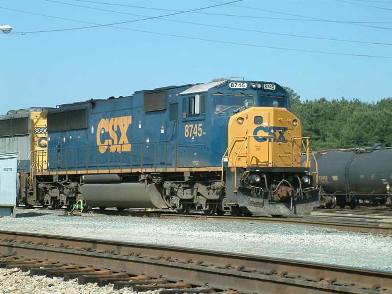 Freshly painted CSX 8745