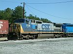 CSX 7739 sits on the engine track