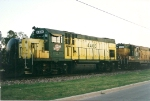 GP-15 4406 and companion sit on the Elmhurst Sand  and Gravel Co siding