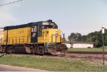 GP15-1 4408 rests for the evening on the siding for the Elmhurst Sand and Gravel Co.