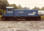 This SW8M, built with dynamic brakes, stared life as Lehigh Valley # 256