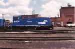 Former CNJ SW 9 1087 survived long enough to get a fresh paint job. At Oak Island