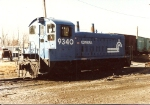 """With an all weather window attached, this """"pup"""" takes a breather. unit is ex PC 9021, PRR 9021, and PRR 7921"""