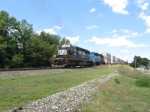 NS 3335 brings up the rear on eastbound doublestack
