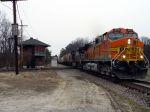 BNSF Leads CSX Grain Train WB