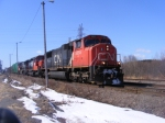 CN 405 departing Saint John