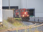CN GP9RMs at the Irving Wallboard plant