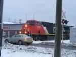 CN 2251 and a car too close