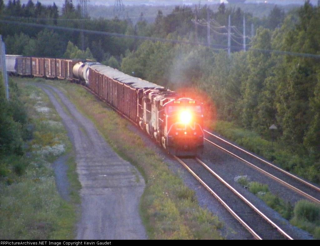CN 308 arriving at Gordon Yard