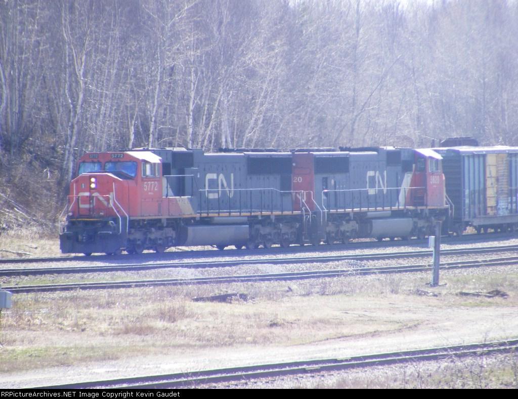 CN 407 arriving at Gordon Yard