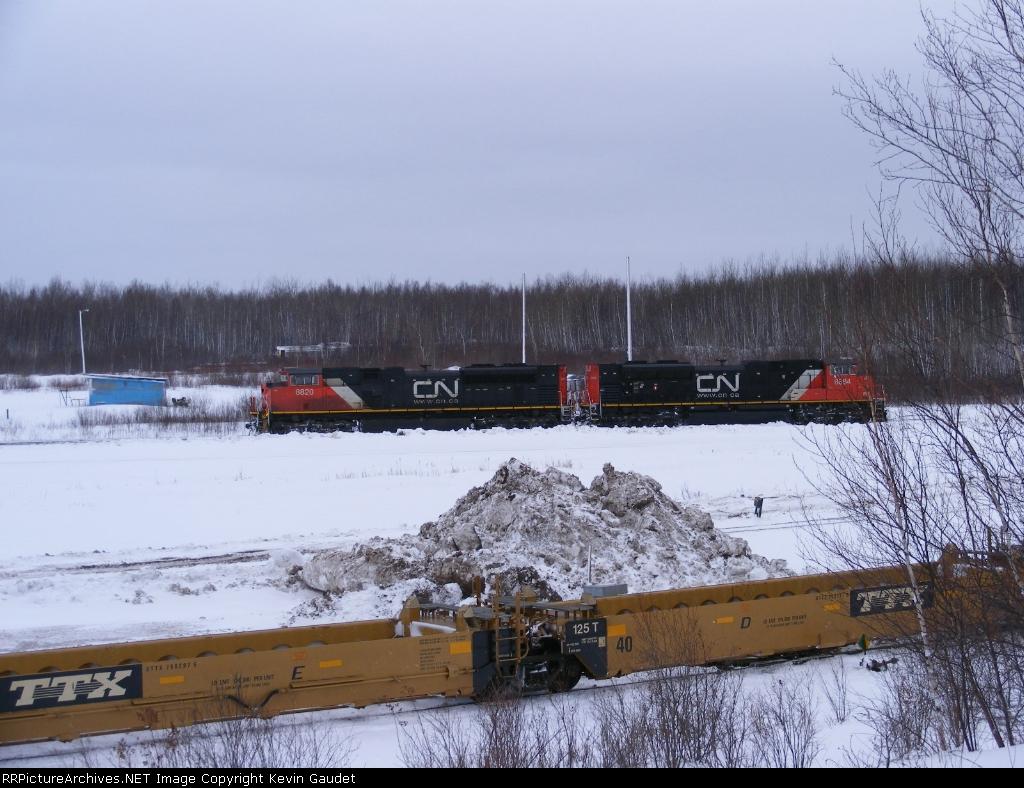 CN 594 arriving at Gordon Yard