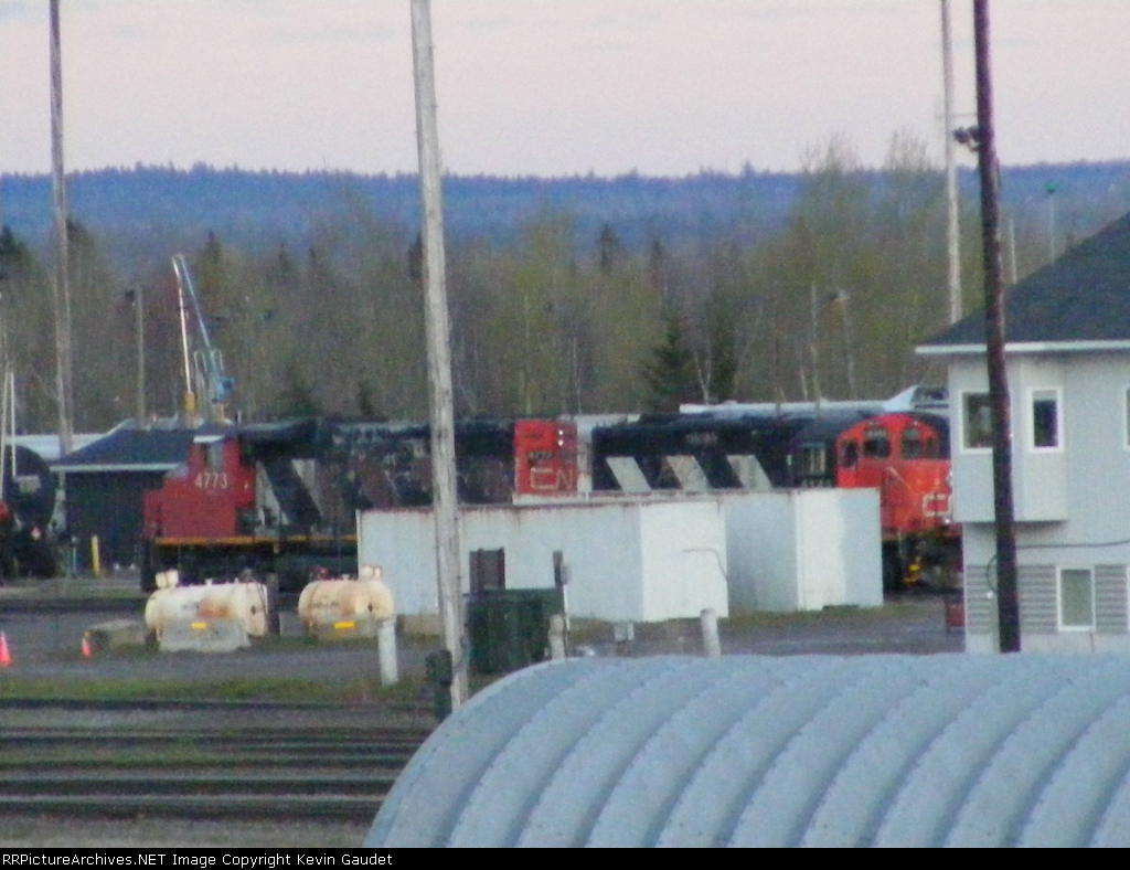 CN 537? at Gordon Yard