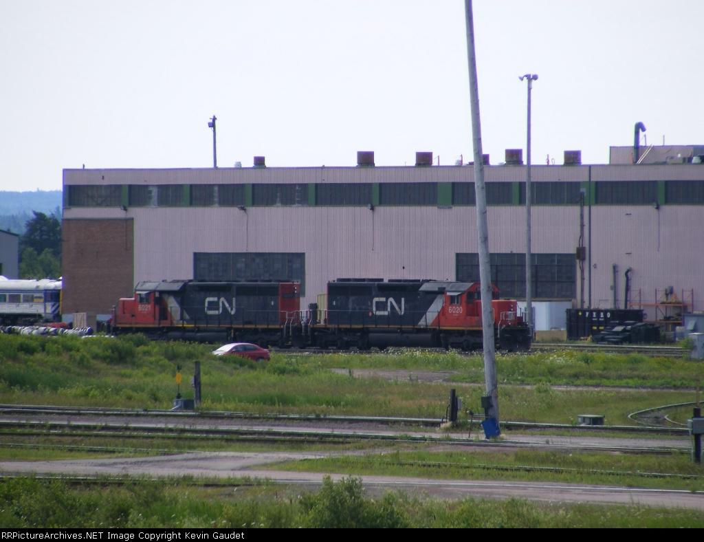 CN 473's power at Gordon Yard