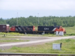 CN yard shunters at Gordon Yard