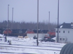 CN engines loaded at the shops