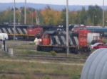 CN trains at Gordon yard