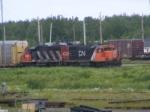 CN yard shunters at Gordon Yard