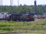 CN yard shunters on break at Gordon Yard