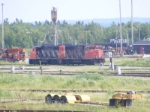 CN 539's power resting at Gordon Yard