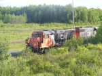CN 405 arriving at Gordon Yard with Junk Power