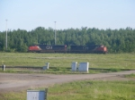 CN Freight units on the loop