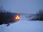 CN 120 at Memramcook w/ a nice snow shower