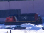 CN 537's unit at Gordon Yard