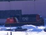 CN 537's unit at Gordon Yard