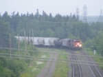 CN 539 backing up to Odlum