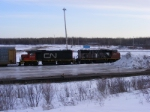 CN shunters at Gordon Yard
