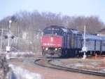 VIA 15 w/ the last Budd cars for the winter at Sackville