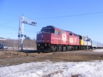 VIA 15 w/ the last Budd cars for the winter at Memramcook