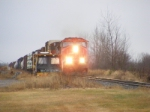 CN 407 passing the MOW equipment at Memramcook
