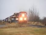CN 407 passing the MOW equipment at Memramcook