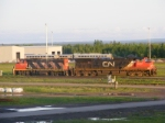 CN 594 coming off the loop