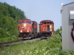 CN 407 passing 539 at Painsec Junction west