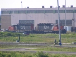 CN 473's power at Gordon Yard