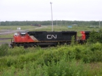 CN 5671 with 408 in the background