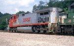 BNSF 793 leading a WB greain train