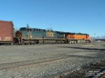 CSX 5112 AC44CW pulling excess height cars