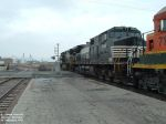 NS 9646 going across crossing