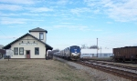 AMTK 55 Goes Past the Emporia Train Depot