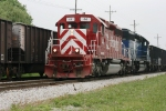 East bound Indiana Railroad 44 and Montana Rail Link 251 at Linton, In..