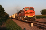 BNSF 9395 passes the Green board