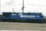 C36-7 6627 sits  and awaits servicing at the enginehouse at oak Island