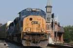 CSX 4736 leads the charge off the OML as the Q217 pull empty auto racks