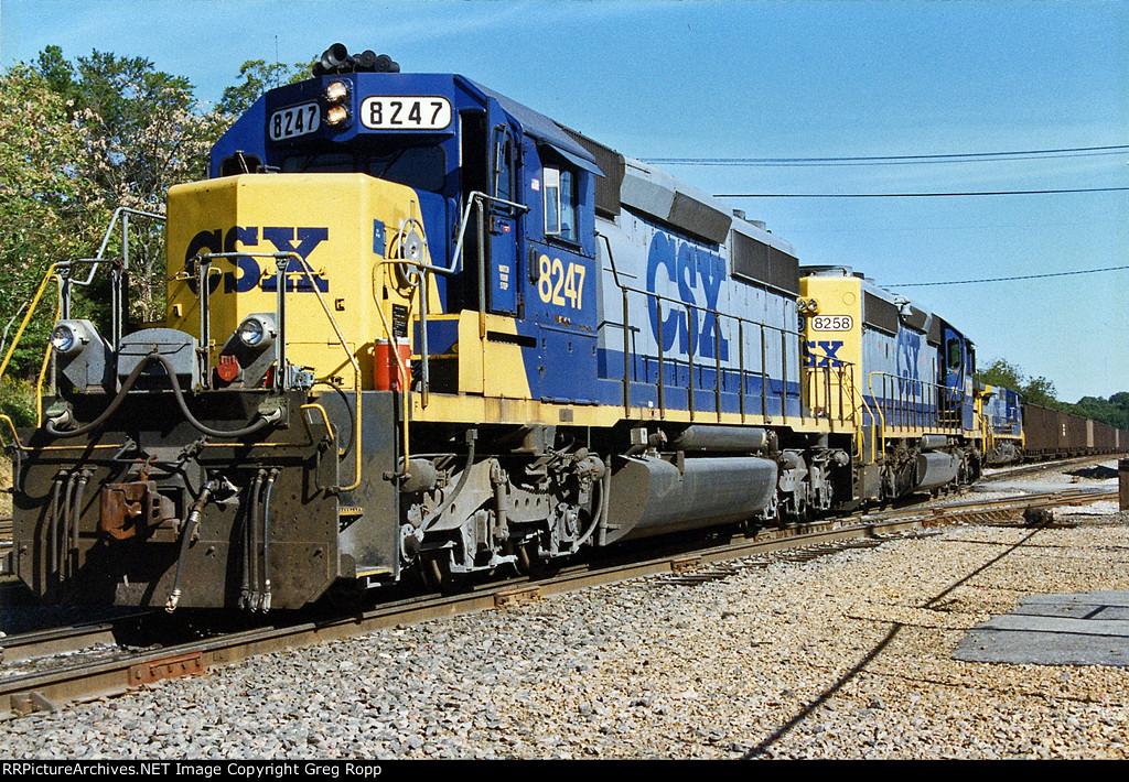 CSX SD40-2s