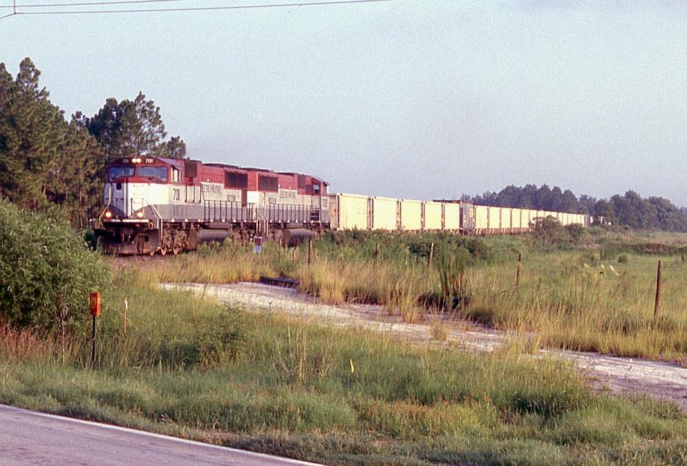 Loaded wet rock train